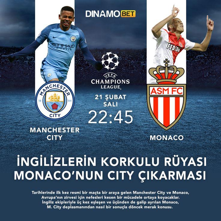 İngilizlere kaybetmeyen Monaco ile Fransızlara kaybetmeyen M.City karşı karşıya! www.dinamobet14.com #dinamobet #monaco #manchestercity