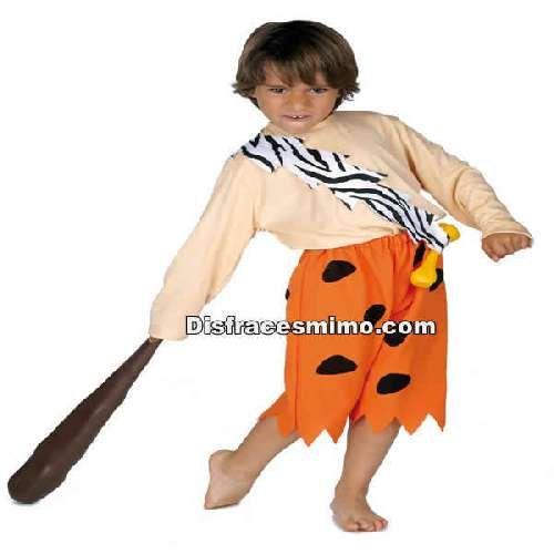DisfracesMimo, disfraz de bam bam infantil.Con este divertido disfraz de Bam Bam infantil te convertirás en el cavernícola más travieso de la famosa serie de dibujos animados Los Picapiedra. En Carnaval o Fiestas Temáticas y fiesta escolares