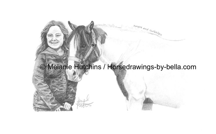 Portrait of Kaylee and Isabelle.  Copyright Melanie Hutchins / Horsedrawings-by-bella  Follow me on Facebook: https://www.facebook.com/Horsedrawingsbybella.MelanieHutchins Twitter: https://twitter.com/MelHTheArtist YouTube: https://www.youtube.com/channel/UCZDEjNKuowAo92BhnMWWBzA