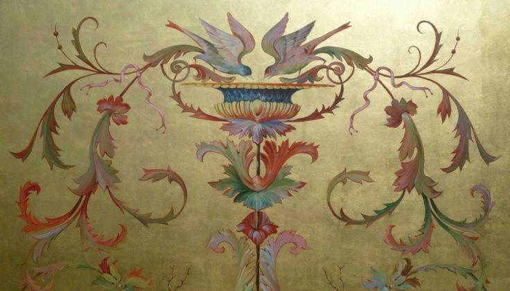 Peintre décorateur : Delphine Nény, Meilleur Ouvrier de France et Maître Artisan, trompe-l'œil, décors peints, fresques, panneaux d'ornement...