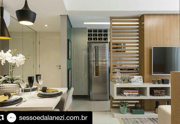 Projetos lindos neste perfil! Parabéns!!! #Repost @sessoedalanezi.com.br with @repostapp Projeto Rio de Janeiro | Sala e cozinha #sessoedalanezi foto by @thiagotravesso