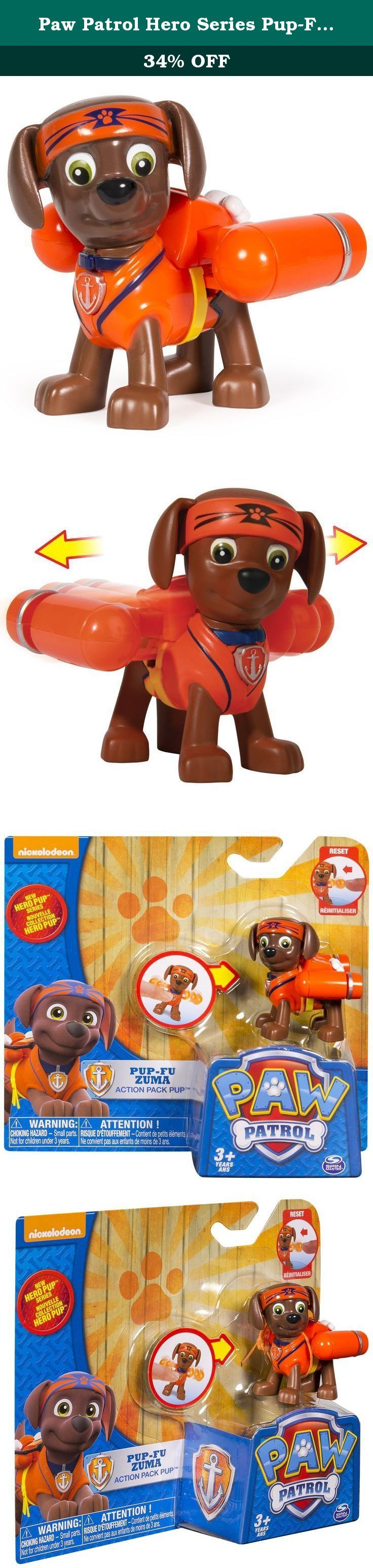 Paw Patrol Hero Series Pup-Fu Zuma. No job is too big, no pup is too small! Now you can join the Paw Patrol Pups on a Paw Patrol Mission with Ryder's Ride On! Just like in the show you can ride with Paw Patrol Pups when an emergency arises. Whether there's rescue mission in your backyard or you have to save Itty Bitty Kitty from a tree, you can race to the ruff-ruff rescue with Ryder's Ride On.