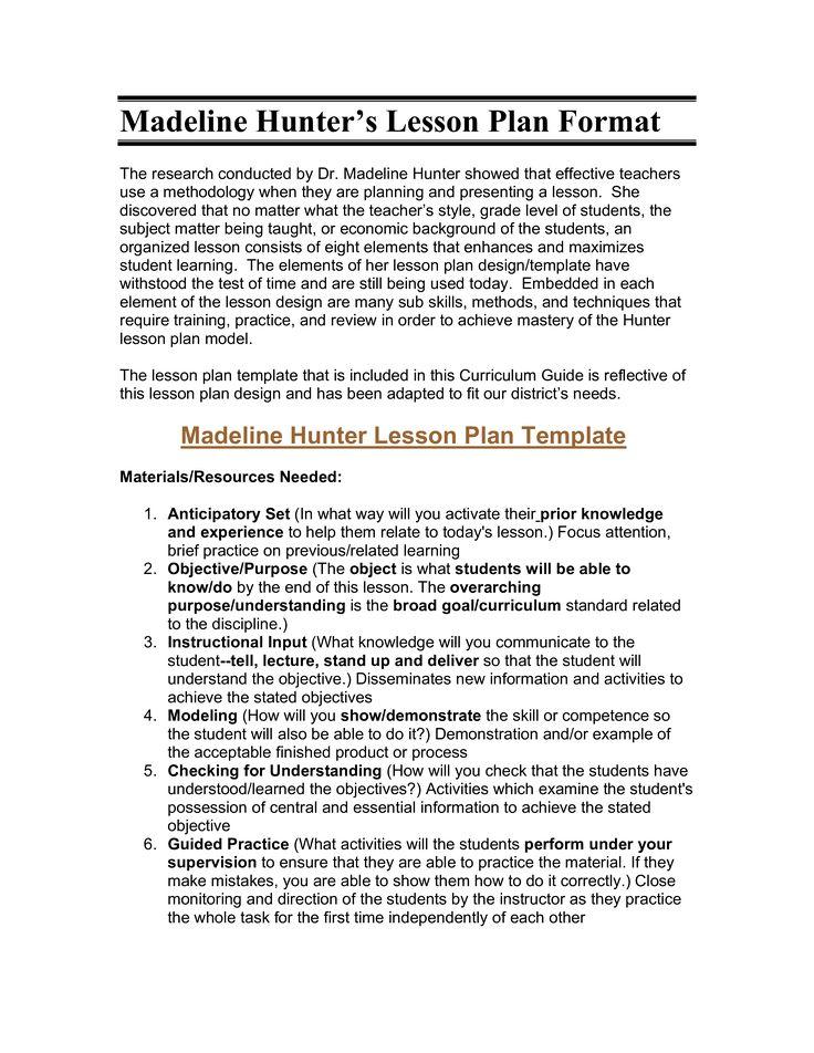 Marzano Lesson Plan Template Zrom