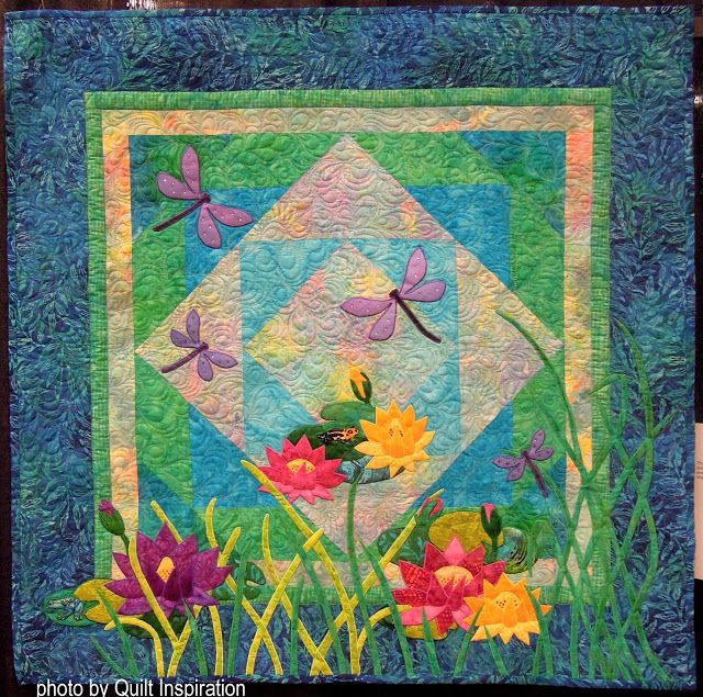 Dragonfly Pond by Carol Carpenter, quilted by Kris Neifeld