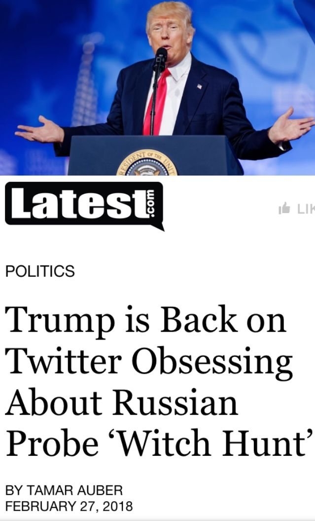 The Embarrassing Twitter Baby spends every waking moment Obsessing about the Russian Investigation being a Hoax. Sure sounds like a GUILTY Jerk to me.