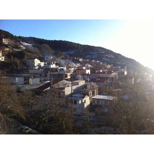 Steni under Dirfis mountain on Evia island in Greece