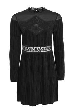 Velvet Plisse Smock Dress