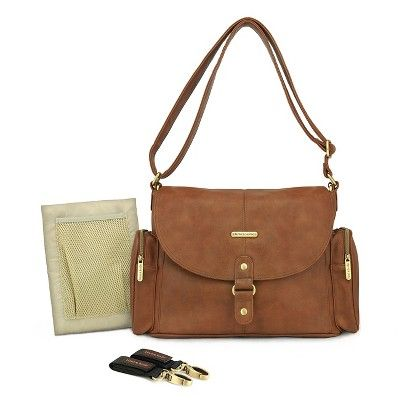 timi & leslie Metro Messenger Diaper Bag - Barcelona Brown