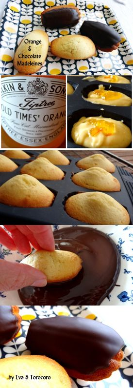 Chocolate and Orange Madeleines by Eva - a Real French Treat