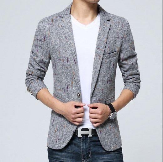 Vintage Fancy Suit Jacket For Men British Style Blaser Masculino Slim Terno Masculino Mens Formal Blazer Khaki Gray 3XL 4XL 5XL http://www.99wtf.net/men/mens-accessories/find-watch-brands/