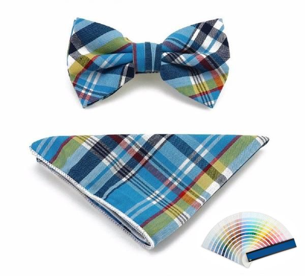 Full Colour Tartan Bow Ties and Pocket Squares