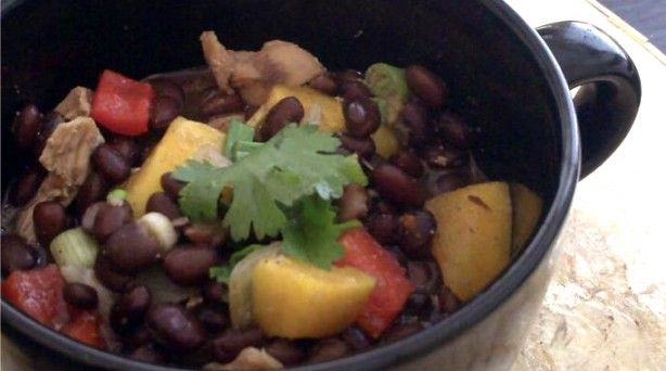 Black Bean, Chicken & Mango StewMango Soup, Chicken Mango, Food Ideas, Mango Stew, Beans Stew, Black Beans Chicken, Food Recipe, Mr. Beans, Soups Stew