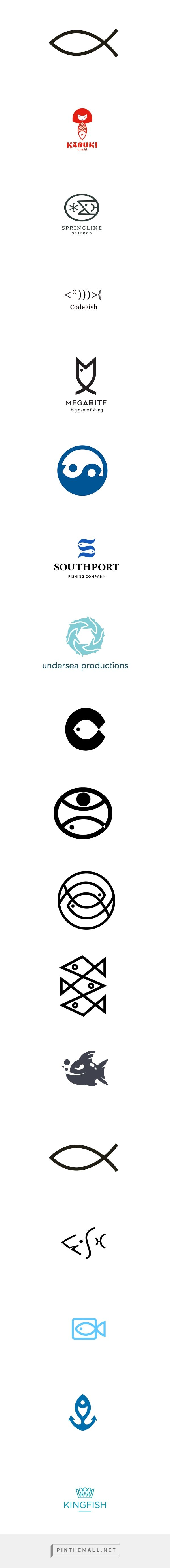 Simple and clean, fish logo designs for your inspiration