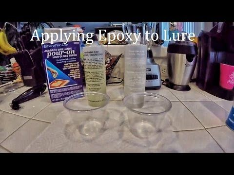 How to build topwater lures: part 5 (applying epoxy)