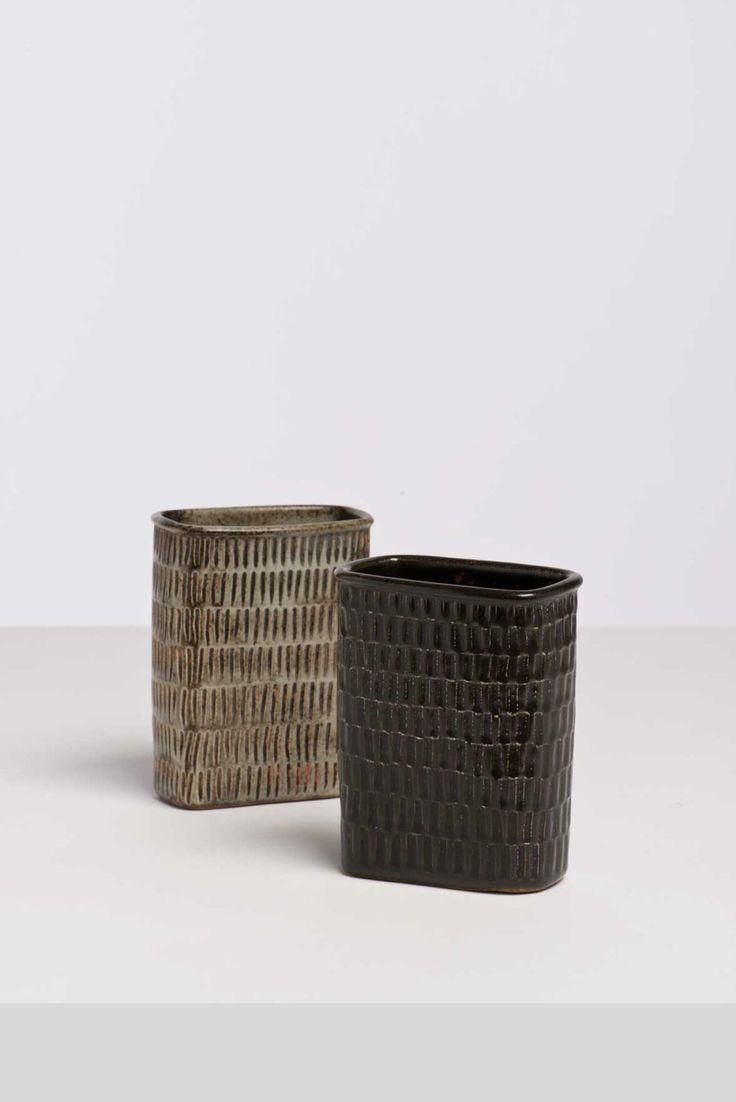 Stig Lindberg (1916-1982) Deux vases