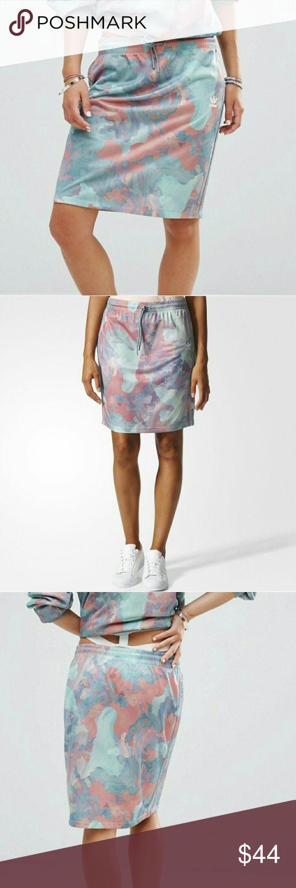 New Adidas Originals Trefoil Pastel Camo Skirt New Adidas Originals Trefoil Pastel Camo Skirt adidas Skirts