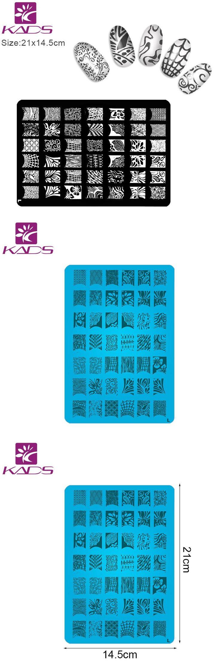 [Visit to Buy] KADS 1Pcs Nail Stencil Black Lace DIY Nail Stamping Plates Konad Stamping Nail Art Nail Art Stamper Plates For Stamping #Advertisement
