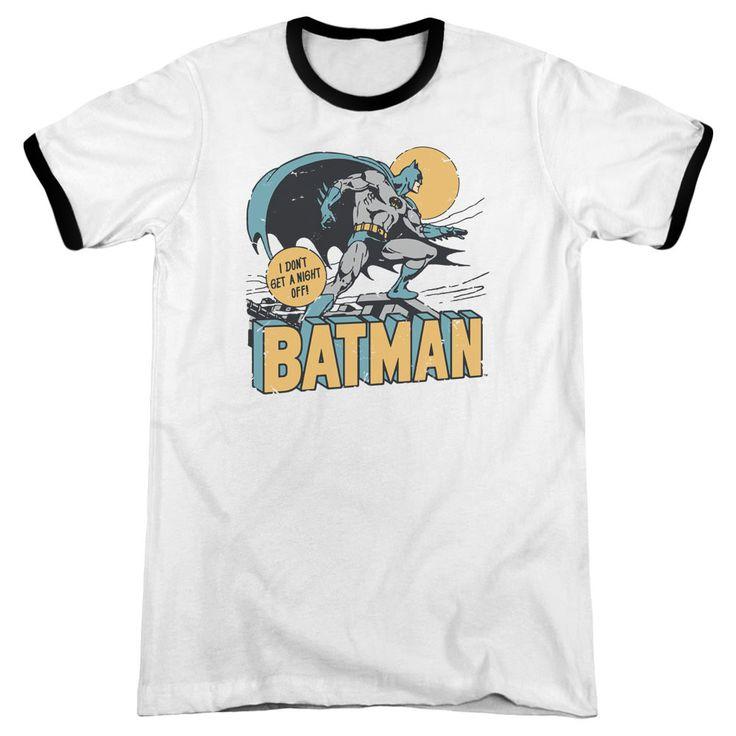 DC Comics Night Off White / Black Ringer T-Shirt