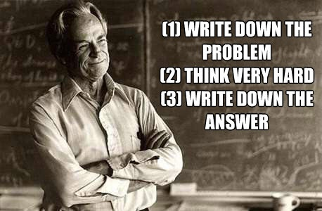 The Richard Feynman approach to problem solving. Schools would do well today to teach this.