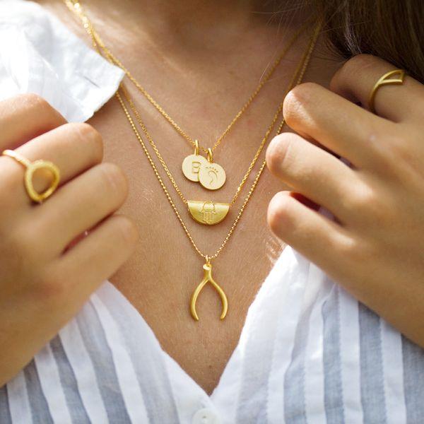 Close-to-my-heart, bogstavs-halskæde, Rosa forgyldt sølv