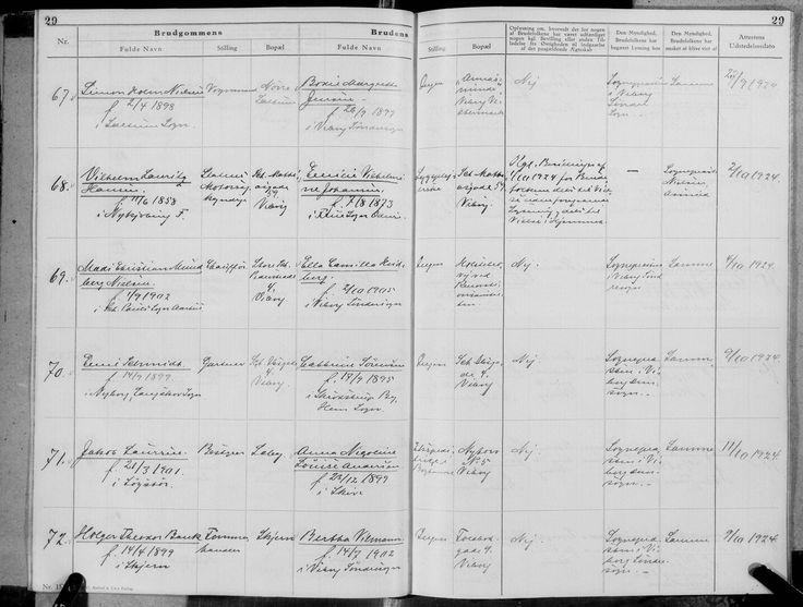 Mads Christian Mundberg Nielsen & Ella Camilla Hvideberg - Denmark Civil Marriages, 1851-1961 - MyHeritage