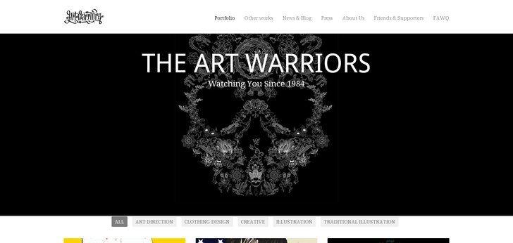 Web design inspiration : theartwarriors.com: Web Design Inspiration, Website Ideas