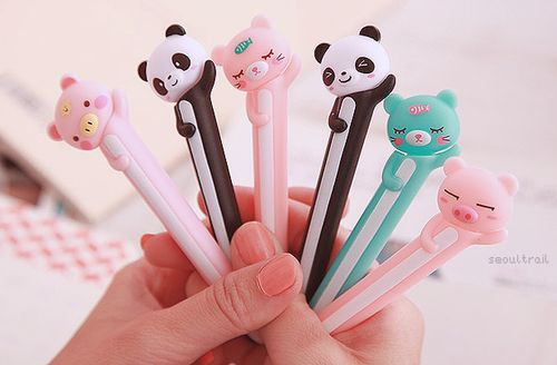 Pen  Pencil Cute Animals Animales Colores pastel Lápiz Lápices Lapicera Lindo Tierno
