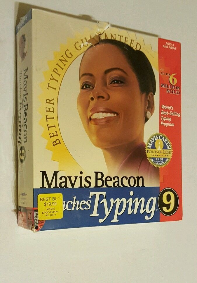 Mavis Beacon Teaches Typing 9 CD ROM Windows 98/98/3.1 or Windows NT NEW IN Box