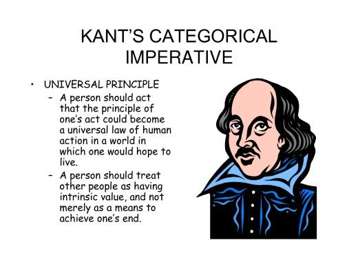 A look at categorical imperative as a method of determining morality of actions