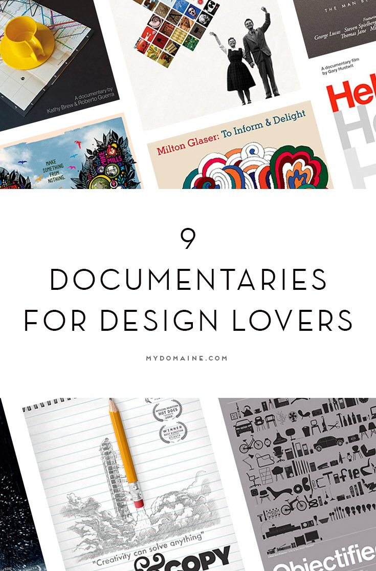 Every Design Lover Should Watch These 9 Documentaries