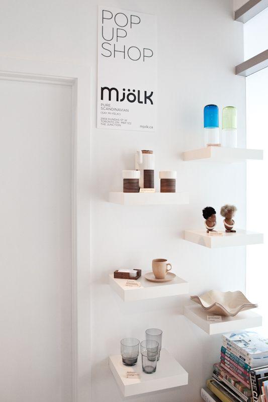 "pop up shop | interior shop | ""mjölk"" | toronto, canada."