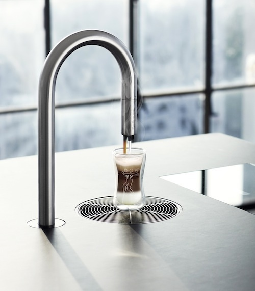 Coffee from the faucet - and ordered from my iPhone! Can it get any better?