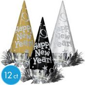 Gold, White and Black New Years Party Hats   #FEELBEAUTIFUL #WHBM
