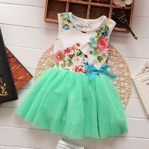 Baby Toddler Girl Floral Top with Mint Green Tulle Skirt Dress 2T to 5Yr. SKU:1670988Dresses Length: Above Knee, MiniSilhouette: Ball GownSleeve Length: SleevelessDecoration: LaceMaterial: Cotton,LaceFit: Fits true to size, take your normal size  Please allow 2-5 weeks for shipping/processing time.