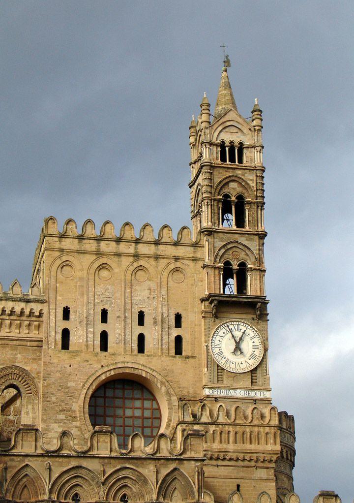 Clock Tower, Duomo in Palermo, Sicily - Travel Photos by Galen R Frysinger, Sheboygan, Wisconsin
