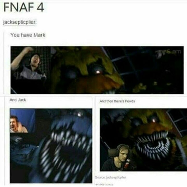 FNAF4 Markiplier Jacksepticeye Pewdiepie YouTube Tumblr