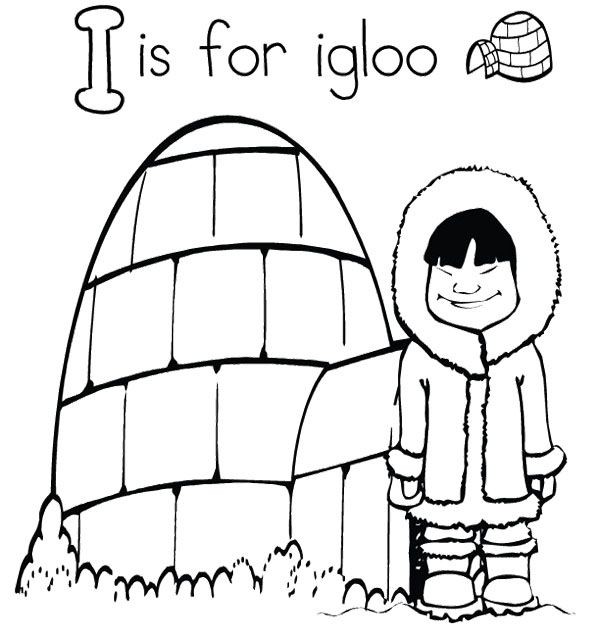 igloo coloring pages for preschool - photo#12