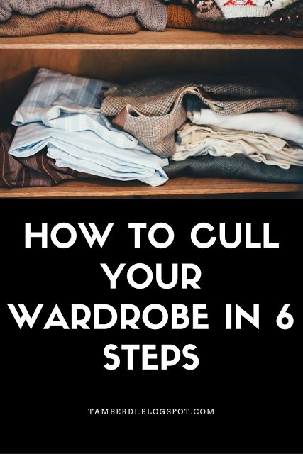 How to Cull Your Wardrobe in 6 Steps   Hey again! Today I thought it would be helpful to discuss paring down clothing into a succinct capsule. If you are unfamiliar with the capsule wardrobe concept it's really just an idea that we should keep a small set of clothes and wear them until they need to be replaced.  This idea is beneficial in many ways; from going easier on the environment to lessening one's contribution to unfair working conditions for those in sweatshops the reasons to try…