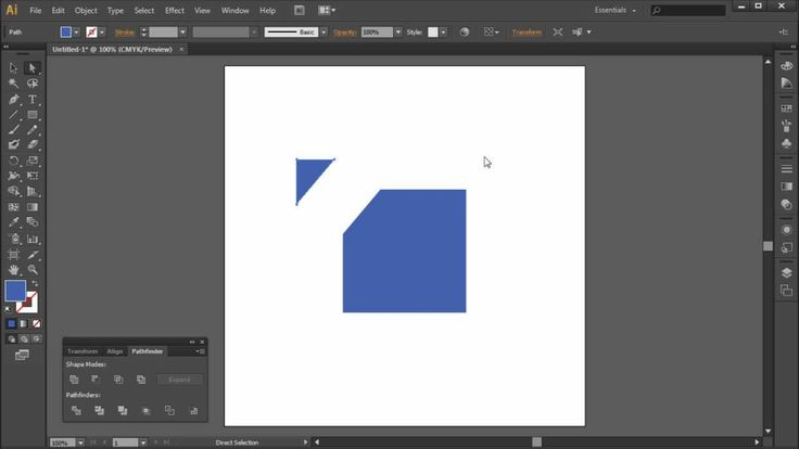 60 Second Illustrator Tutorial : Slice and Divide Shapes with Pathfindin...