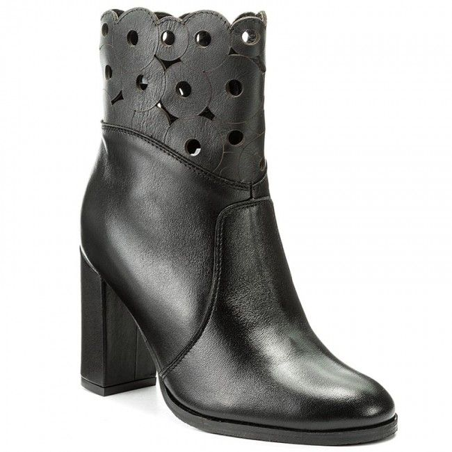 Členková obuv EKSBUT - 67-4697-155-1G Czarny Licowa
