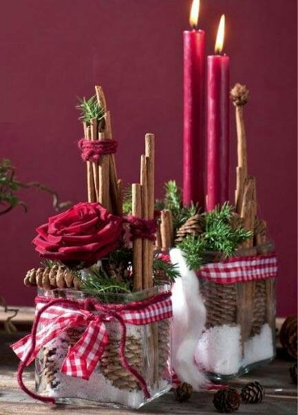Christmas Center piece- creative and I like it! Someday, I hope to have opportunity to entertain the way I would like to...