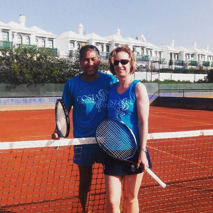 Cutest couple going... Divine! #costadeltennis #tennis #tennisholidays #winter #canaryislands #maspolmas #newbies #travel #travels #uk #tenis #wimbledon #aegon #international