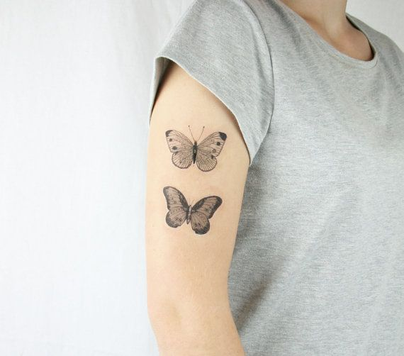vintage butterflies temporary tattoo - mothers day- choose your size by pepperink