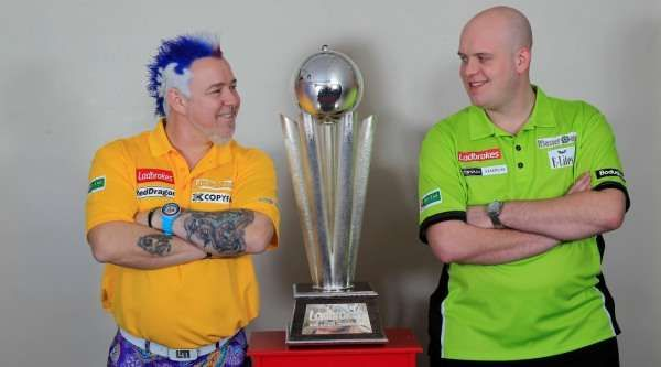 The finalists for the 2014 World Championship - Peter Wright and Michael van Gerwen