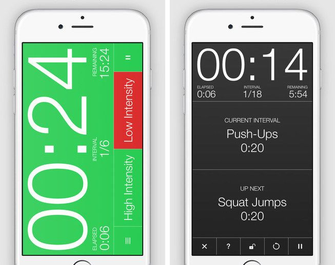 """Seconds (free, <a href=""""https://itunes.apple.com/us/app/seconds-timer-for-interval/id475816966?mt=8"""" target=""""_blank"""">iOS</a>) is a timer for interval training."""