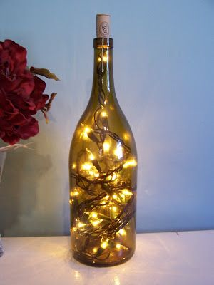 Wine Bottle Lamp - need battery powered lights...