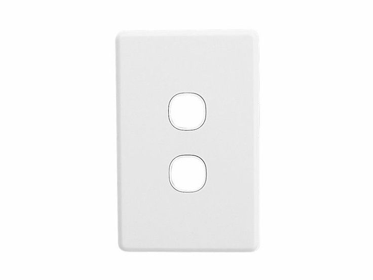 Clipsal Two 2 Gang Wall Plate Slimline Series Double Light Switch SC2032VH White