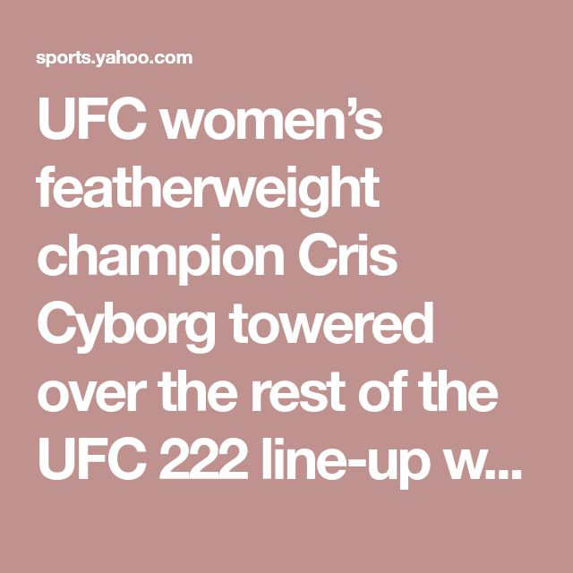 UFC women's featherweight champion Cris Cyborg towered over the rest of the UFC 222 line-up when the fighter salaries were released on Monday.