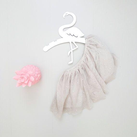 Flower Girl Hanger, Kids Hanger, Flamingo Wall Art, Tropical Nursery, Baby Shower Gift, Children Hangers, Kids Decor, Wedding Dress Hanger