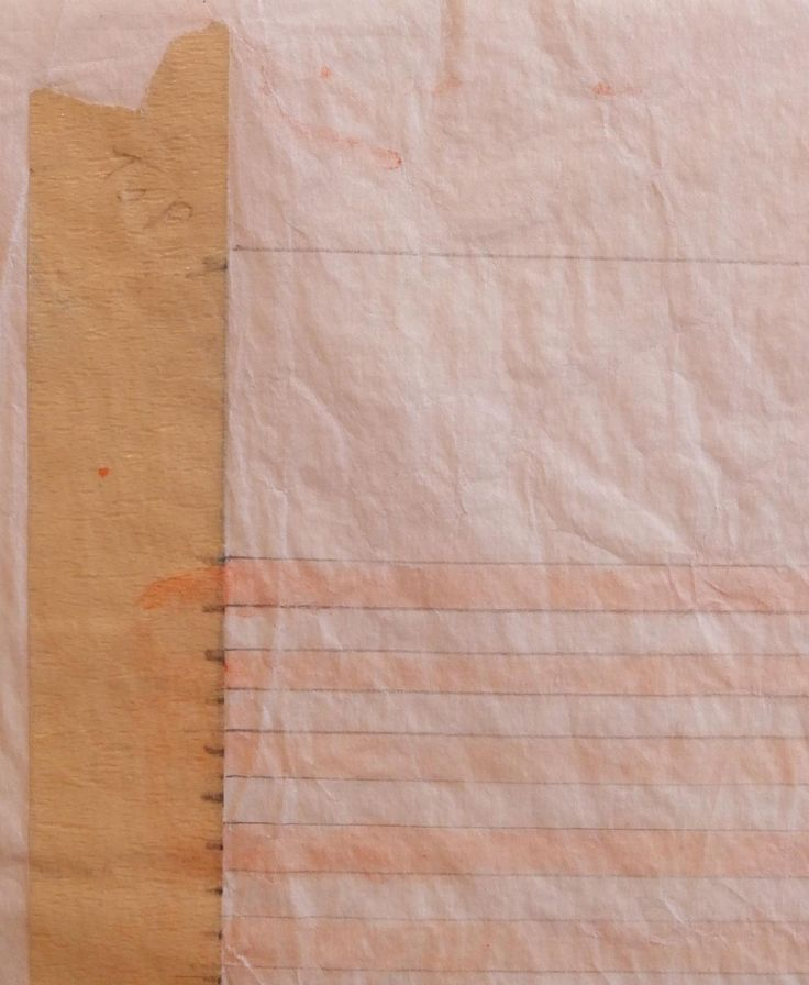 """Agnes Martin, C. 1990's, paper size 11 x 11 inches, watercolor and graphite on paper. Detail of a preliminary study made with watercolor and graphite on paper.  As the image shows, the masking tape which has the original measurement markings remain on this piece. The masking tape is inscribed """"top"""" on both right and left sides."""